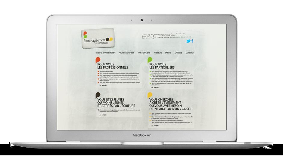 Webdesign - Entre Guillemets
